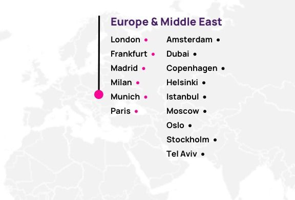 Map of Europe & Middle East